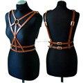 Fashion Sexy Women Cross Leather Harness Handcrafted Body Bondage Sword Belts Waist Straps