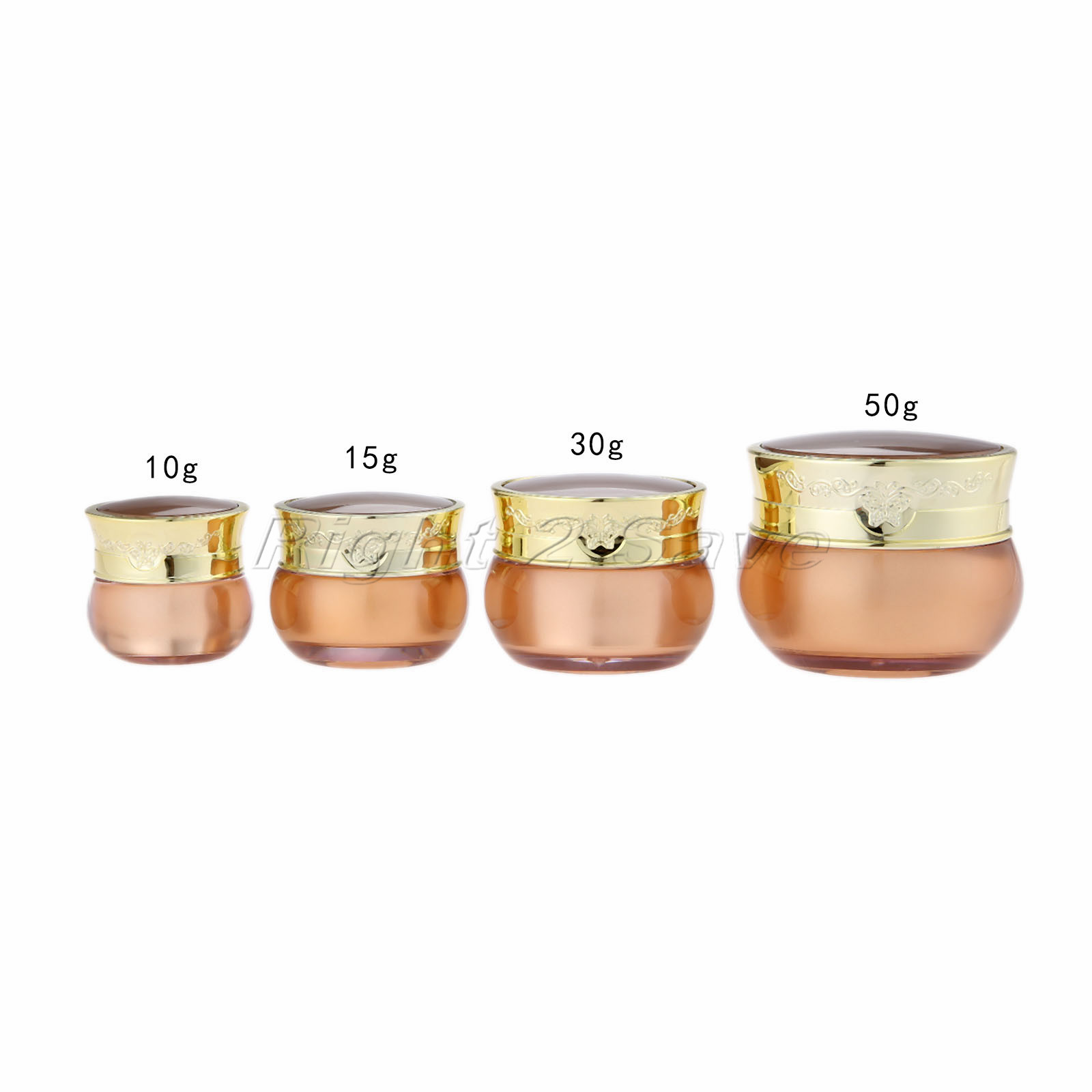 Acrylic Jar 10g/15g/30g/50g Gold Face Cream Pot Cosmetic Container Butterfly decoration Empty Packaging Bottle Portable Travel