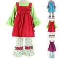 Nuevas chicas 3 unids ropa conjuntos niños ropa de bebé traje niños camisas de manga larga + dress + pantalones roupas túnica meninas infantil