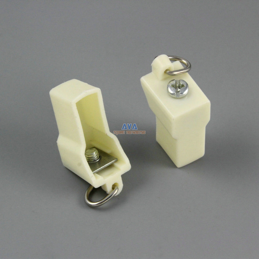 20 Pieces Curtain Track End Caps Curtain Track End Stops 10x7x21mm
