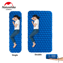 Naturehike Outdoor Inflatable Mattress Camping Sleeping Pad Hiking Single Double Moisture-proof Mat with Air Bag цена