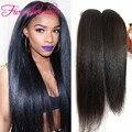 100% real virgen extensiones de cabello humano brasileño luz yaki straight hair bundles 3 unids/lote tejer del pelo envío gratis
