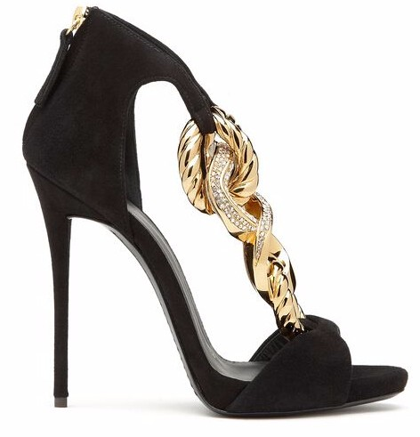Newest Zipper Suede Jeweled Chain Velvet Office Lady Women Sandals Party Women Shoes Cheap Price Sexy High Heel shoes summer luxury women shoes newest high quality hot sale fashion cheap price sexy crystal thin heel shoes suede cut out ankle big size 10