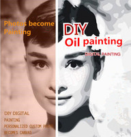 Diy Oil Painting By Numbers Custom For Yourself Pictures Any Size Hand Painted Canvas Oil Paintings