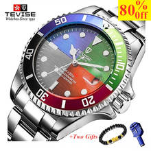 TEVISE Fashion Mens Watches Top Brand Luxury Casual Quartz Watch Men Stainless Steel Waterproof Sport Relogio Masculino