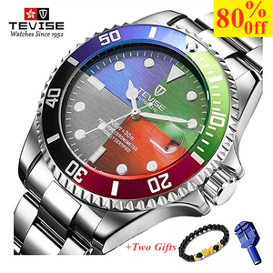 TEVISE Fashion Mens Watches To