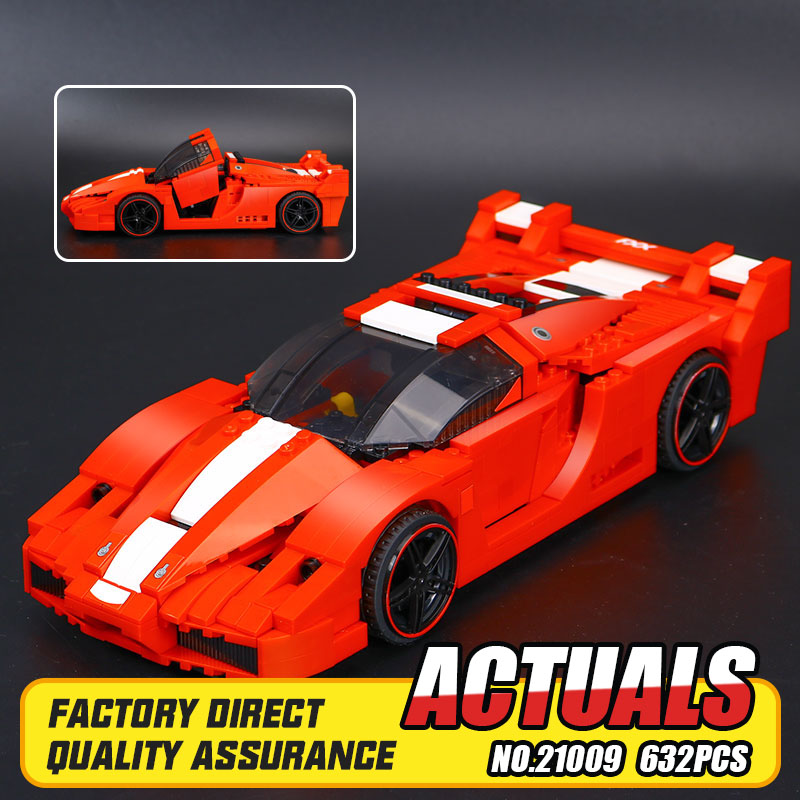 New Lepin 21009 Genuine Creative Series The Out of Print FXX 1:17 Racing Car F1 Car Set Building Blocks Bricks Toys car model scene 1 18 car girl dolls out of print