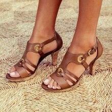Style Elegant Buckle Strap Sandals Women 2019 Sandals Female Bohemian Style Summ