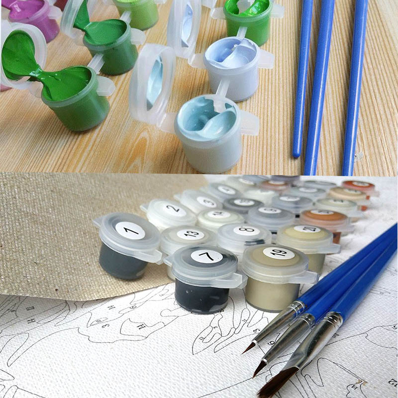 Painting Coloring by Numbers Painting Calligraphy Pictures for Living Room Painting by Numbers on Canvas Drawing Women P-0025