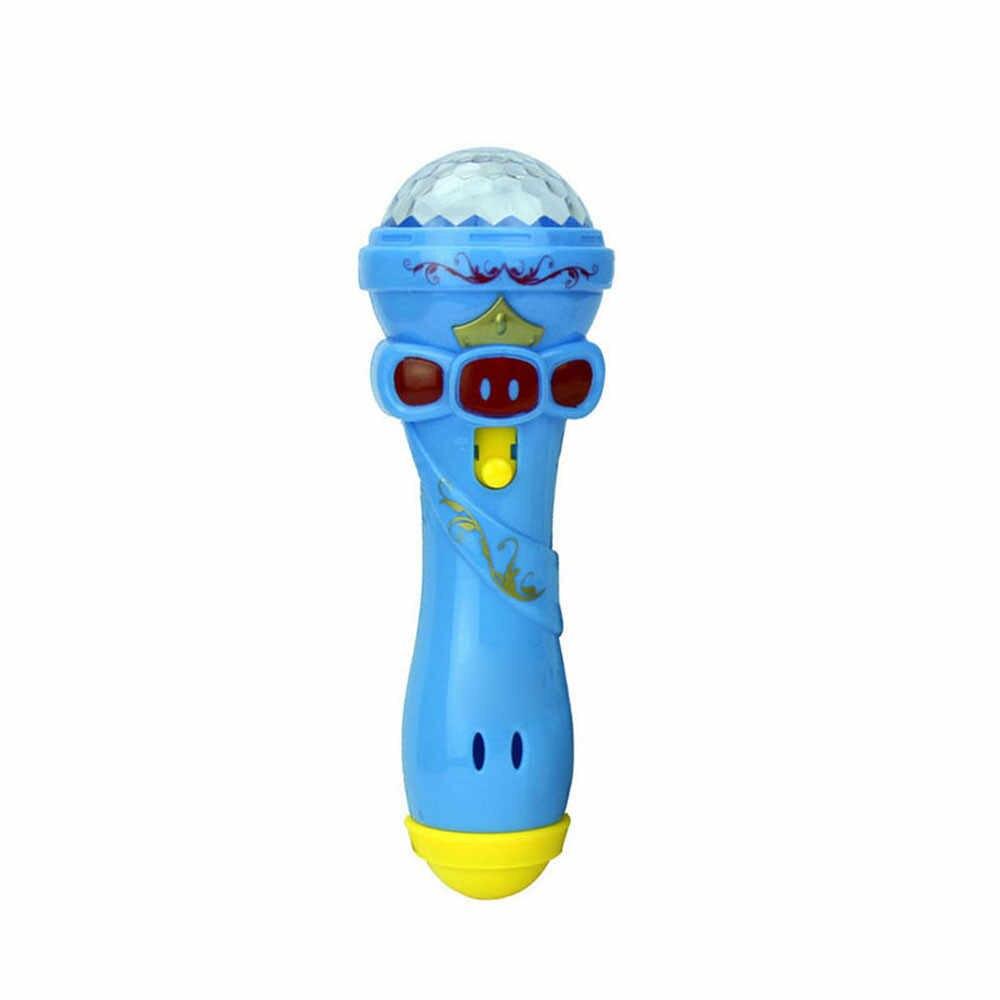 Игрушки новые детские эмалированные музыкальные игрушки смешное освещение беспроводная модель микрофона Подарок Музыка Караоке легкие игрушки для детей Подарки 16