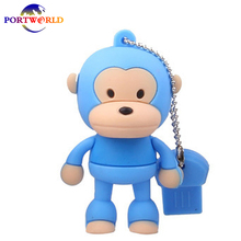 USB Flash Drive 16G Cartoon Cute Standing Monkey USB Memory Drive 3.0 Flash Drive Creative Monkey 32G Pen Drive