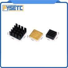 1 set/3 pc Kühlkörper Kühler Reinem Aluminium Kupfer Kühlkörper Set Kit Kühler Für Raspberry Pi 3 Modell b/B Plus B + 3D Drucker Teile