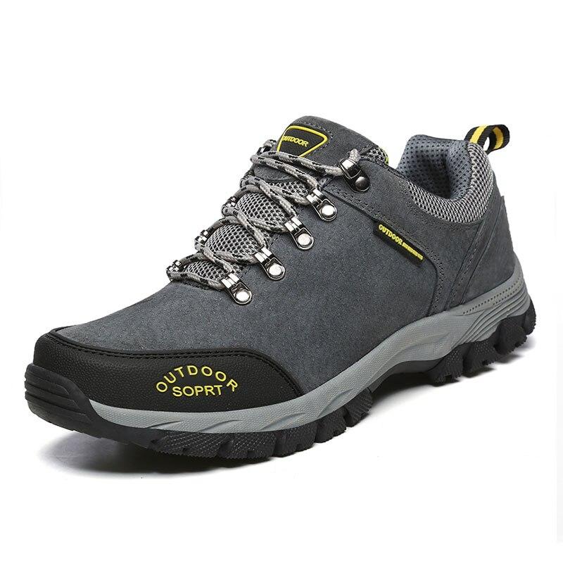 Кожаная повседневная обувь для мужчин осень-зима удобные меховые непромокаемые уличные кроссовки на шнуровке Большие размеры 39-48 замша кра...