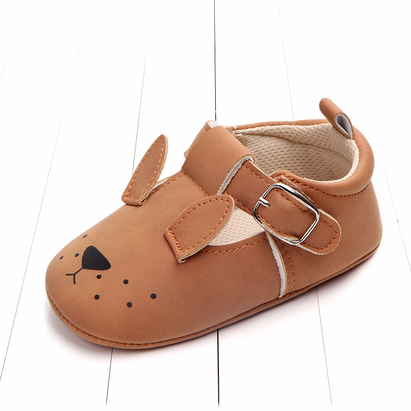 Baby First Walkers Matte leather Shoes for Baby Girl Boy Cartoon Animal Newborn Slippers Footwear Booties Kids Gift Child Shoes (5)