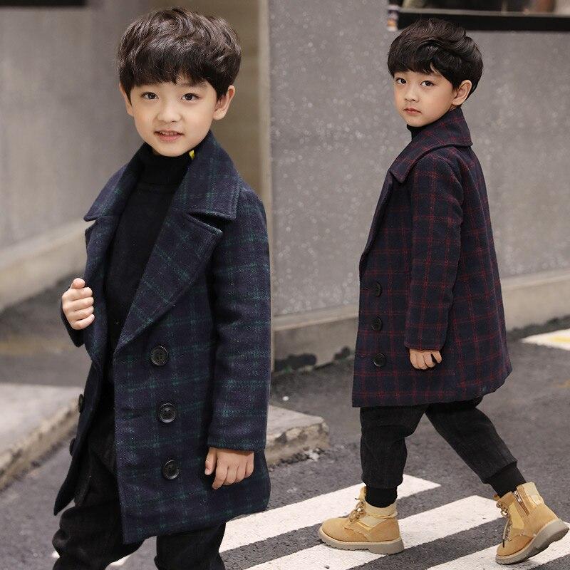 Nouveau 2019 printemps automne hiver enfants Patchwork manteau bleu rouge haute qualité enfants vestes coupe-vent pour garçon convient US6 ~ 14Y