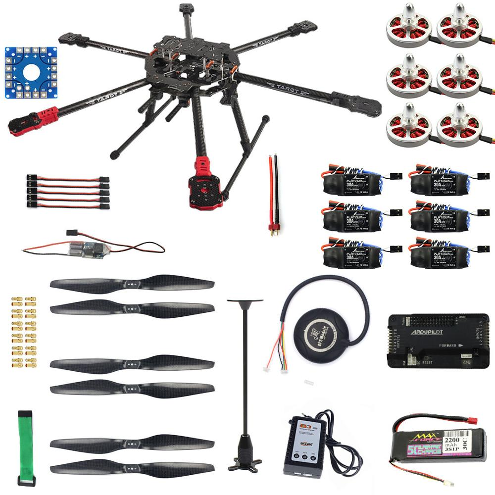 F07803-B RC Hexacopter Drone 6-axle Aircraft Kit FY690S Frame 750KV Motor  GPS APM 2 8 Flight Control No Battery NOTransmit