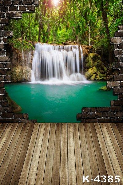1,5m x 2m szépséges vízesés Népszerű hátterek a vinil stúdió - Kamera és fotó