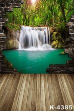 1.5m x 2m Beauty Waterfall Popular Background For Vinyl Studio Backdrops Cloth Classic Scenic Brick Wall Photograph Photo Props