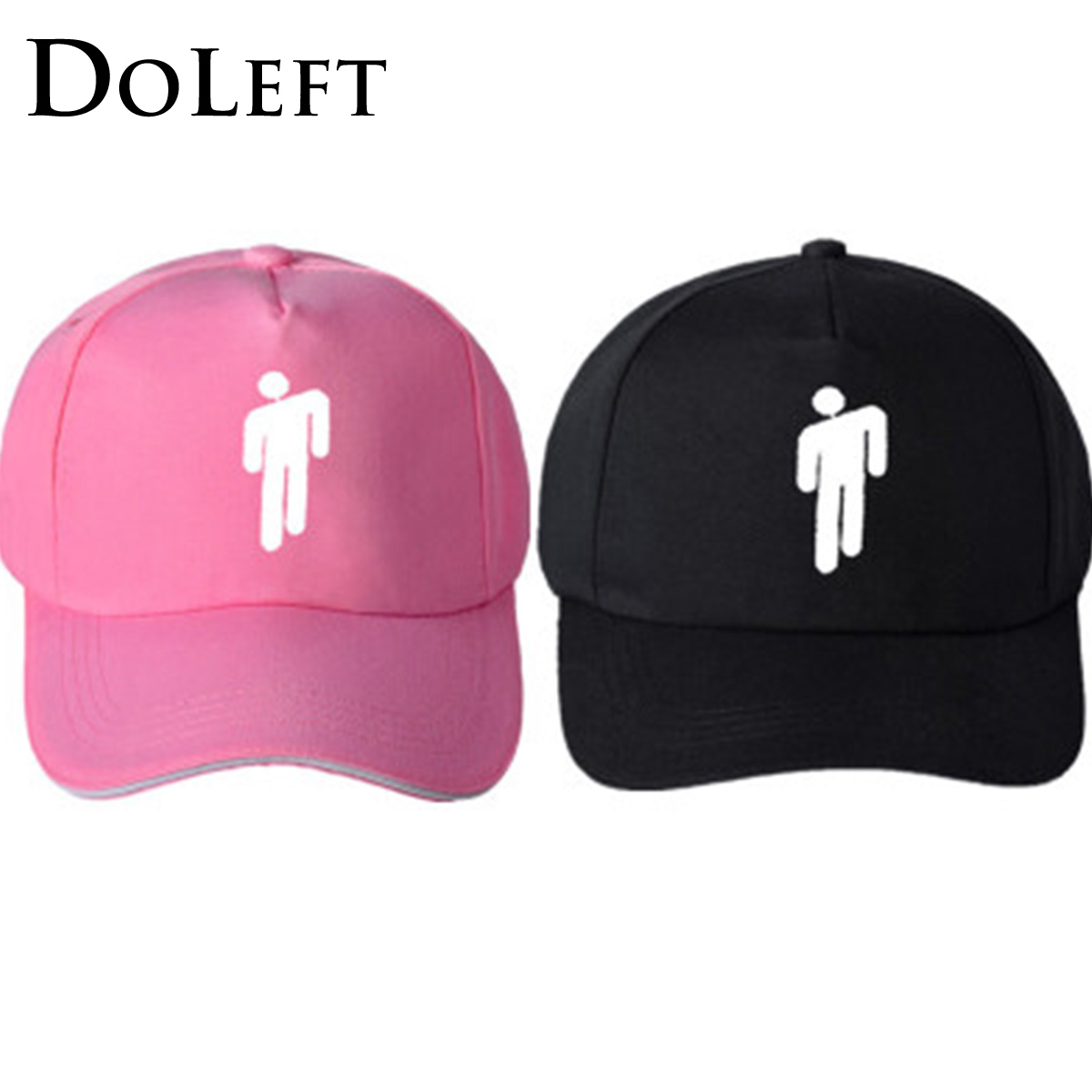 2019 Billie Eilish Baseball Caps Adjustable Streetwear Hiphop Caps Snapback Unisex Cool Cotton Dad Hat Billie Eilish Beanie Hats