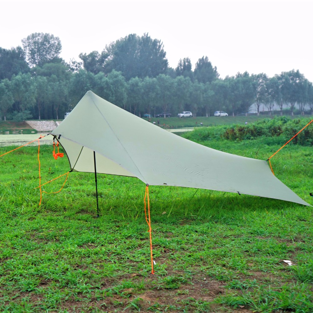 AricXi Only 310g Light Rain Fly Tent Tarp Waterproof 20d Silicone Coating Nylon Camping Shelter Canopy Rainfly,Lightweight Tarp