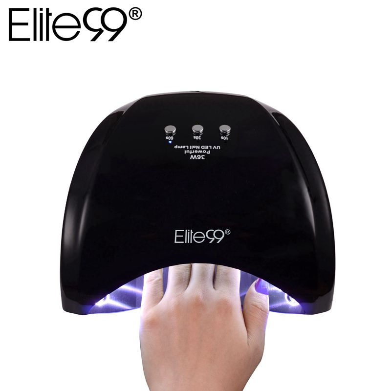 Elite99 36W LED Nail Lamp Professional Nail Dryer For Gel Polish Curing Nail Art Manicure Tools US UK EU AU Black Color perfect summer 36w nail gel leduv lamp nail dryer nail art dryer tools for curing gel polish nail art lamp different plug choose