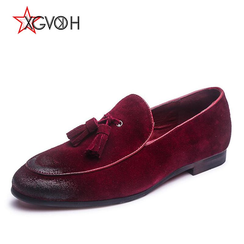 Mens Shoes Comfortable Loafers Cow Suede Leather Oxford Men's Wedding - Men's Shoes