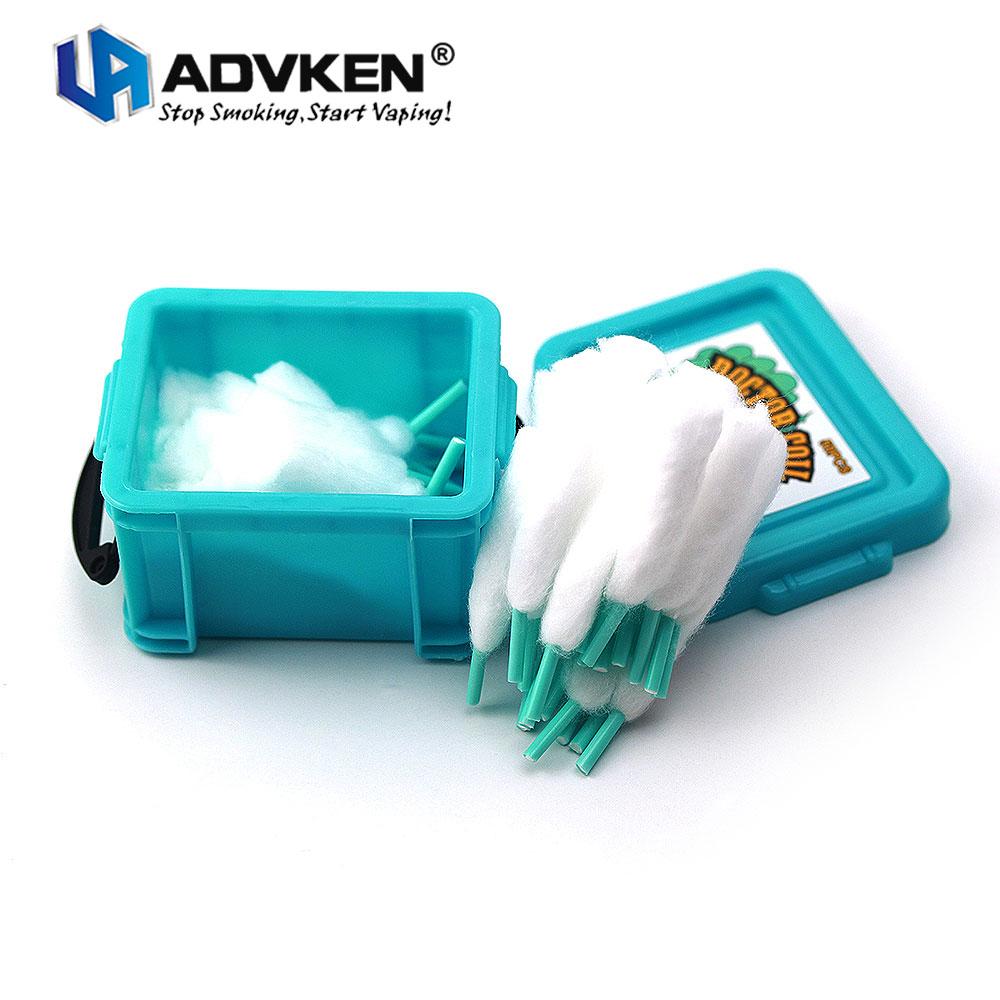 Original Advken Doctor bobina algodón precargado hecho de 100% Natural 129A algodón orgánico de alta calidad absorbe para la construcción de bobinas