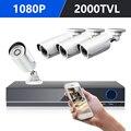 DEFEWAY 1080 p HDMI DVR 2000TVL 1080 p HD al aire libre cámara de seguridad de casa Sistema de 8CH CCTV Video de vigilancia DVR Kit AHD 4 Cámara