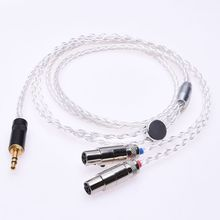 лучшая цена 1.2m 4FT Hi-end 8 Cores Litz braid 5N Pcocc silver plated Headphone Upgrade Cable for Audeze LCD-2 LCD-3 LCD-X LCD-XC