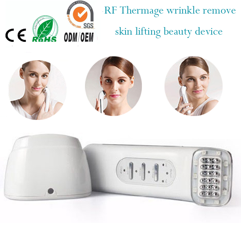 Rechargeable RF Bipolar Radio Frequency Bio Microcurrent Infrared Face Lift Skin Rejuvenation Beauty Massager Machine mini portable usb rechargeable ems rf radio frequency skin stimulation lifting tightening led photon rejuvenation beauty device