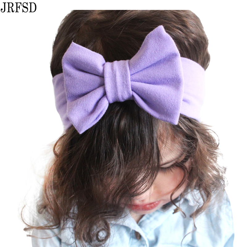 JRFSD Cotton Knot Elastic Headband for Girls Wide Hair Bands Aksesori - Aksesori pakaian - Foto 3