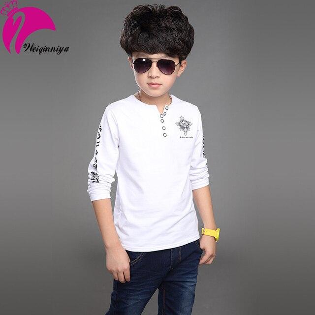 2016 новая весна красивый мальчик футболки шаблон , разработанный вырезом большой - дети мальчики футболки детской одежды Infantis