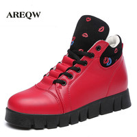 Winter Warm Boots Platform Women Cotton Fashion Leather Rain Snow Boots Shoes Zapatos Mujer Zapatillas Deportivas