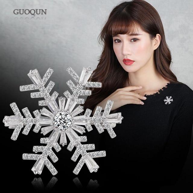 Fashion Brooch Snow Flower Brooch For Women Girl