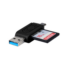 Hot-sale Top quality MINI 2 in 1 Super High Speed USB 2.0+OTG Micro SD/SDXC TF Card Reader Adapter Mac OS Pro PC Laptop Computer