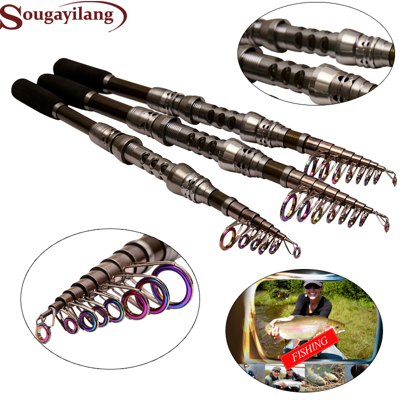 Рыбалка набор стержень 1.8-3.0 м углерода телескопическая штанга и 13 + 1bb металла спиннингом Рыбалка снасти комбо