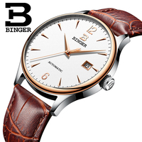 Switzerland Automatic Mechanical Mens Watches Binger Luxury Brand Watch Men Sapphire Wristwatches Waterproof Relogio Masculino 4