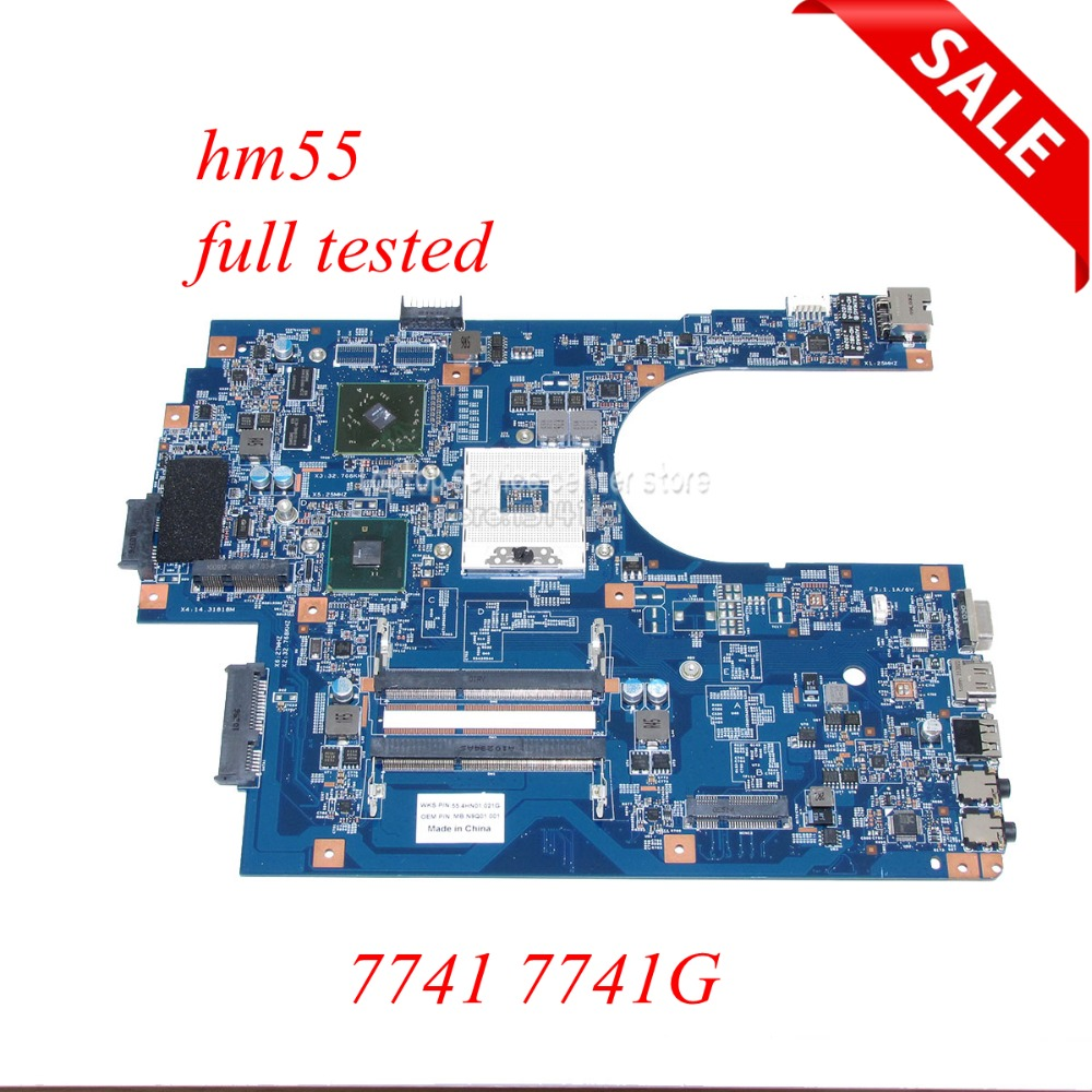 NOKOTION JE70-CP MB 09923-1M 48.4HN01.01M MB.N9Q01.001 MBN9Q01001 Laptop Motherboard For Acer Aspire 7741 7741G HM55 HD5470 Work
