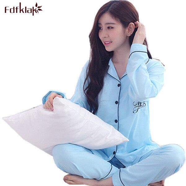 XL XXL XXXL Autumn Winter Women Pyjama   Set   Pijama Plus Size   Pajama     Sets   Women Cotton   Pajamas   Black Home Clothes Sleepwear Q169