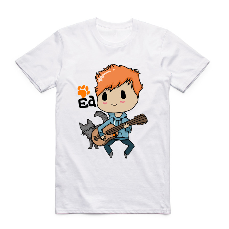 New Fashion Men Women Print Ed Sheeran Funny T-shirt O-Neck Short Sleeves Summer Unisex Hipster Cool Top Tee Funny T Shirt