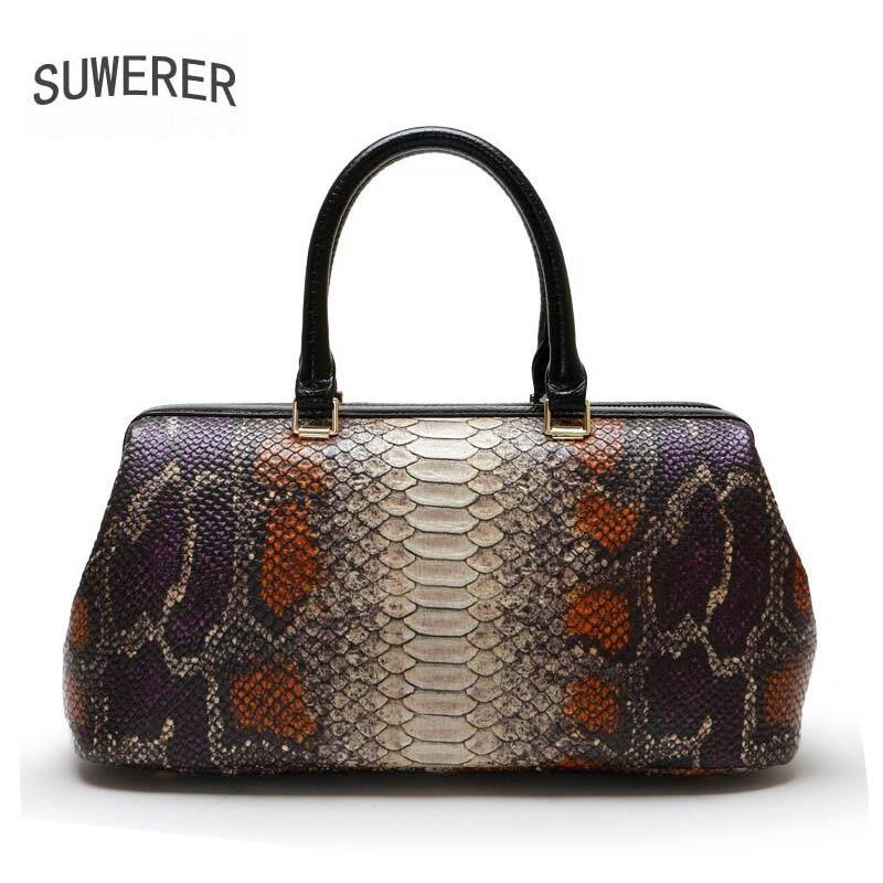 Genuine Leather handbag 2018 New Luxury Serpentine Bag Fashion Shoulder Messenger Bag Women Handbags