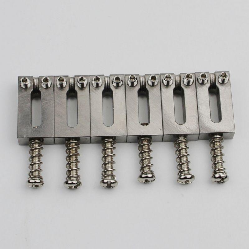 Titanium alloy Bridge Saddles Type Square 10 5MM For Stratocaster Tremolo Bridges Electric Guitar Tremolo Bridges