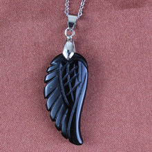 100 уникальные 1 шт посеребренные черные Агаты Крылья ангела