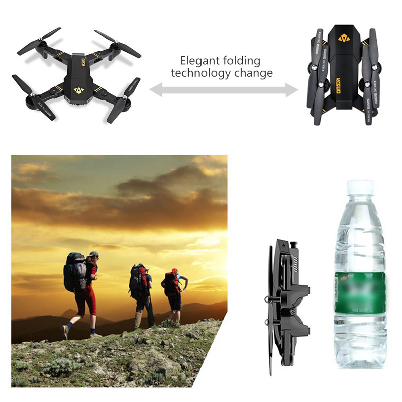 VISUO Xs809HW Xs809W Foldable Drone with Camera HD 2MP Wide Angle WIFI FPV Altitude Hold RC Quadcopter Helicopter VS H47 Dron 6