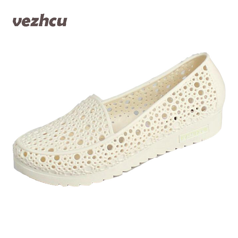 VZEHCU Jelly Sandals Summer Shoes Casual Woman Gladiator Flats Sandals Fashion Hollow Sandals Plus Size 36-41 2e03 gladiator sandals 2017 fock women summer comfort flats fashion creepers platform casual shoes woman 2 colors
