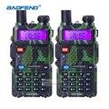 2 pcs baofeng uv 5r rádio portátil vhf uhf de longo alcance em dois Fone de ouvido via Rádio CB Par Walkie Talkie Presunto Amador Rádio Comunicador