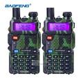 2 unids baofeng uv 5r radio portátil vhf uhf de largo alcance de dos vías Del Auricular de Radio CB Walkie Talkie Par de Jamón Amateur Radio Comunicador
