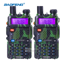 2pcs BaoFeng UV 5R Portable Radio VHF UHF Long Range Two Way Radio Earpiece CB Walkie Talkie Pair Ham Amateur Radio Communicator