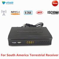South America FTA ISDB T HD TV Tuner Receiver H.264 Digital Terrestrial Receptor Set Top Box Support Dolby AC3 For Brazil Peru