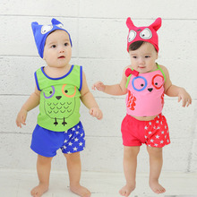 Free Shipping 2017 New Cute children baby bathing Suit swimsuit for kids girls boys swimwear bikinis